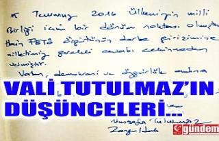 """VALİ TUTULMAZ; """"MİLLETİMİZ GEREKLİ CEVABI..."""