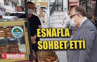VALİ TUTULMAZ ESNAFLA SOHBET ETTİ
