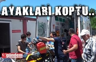 ZİFT TANKERİ ALTINDA KALAN İŞÇİNİN AYAKLARI...