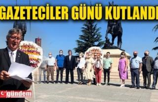 ZONGULDAK'TA BASIN BAYRAMI ÇELENK SUNUMU İLE...