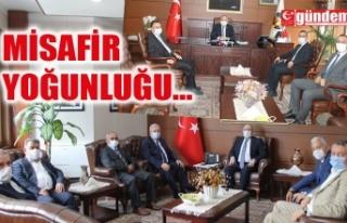 ZONGULDAK VALİSİ TUTULMAZ'IN ZİYARETÇİ YOĞUNLUĞU...