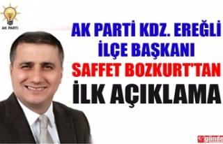 AK PARTİ KDZ. EREĞLİ YENİ İLÇE BAŞKANI BOZKURT'TAN...