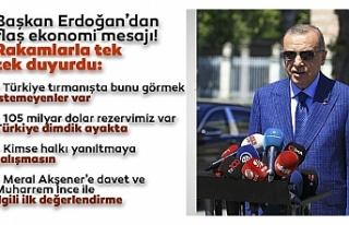 Başkan Erdoğan'dan ekonomi mesajı: Türkiye...