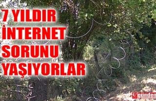 BU KÖYDE YAŞAYANLAR 7 YILDIR İNTERNET PROBLEMİ...