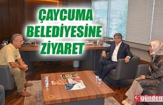 DAVUTOĞLU'NDAN ÇAYCUMA BELEDİYE BAŞKANI KANTARCI'YA...