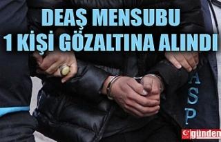 DEAŞ MENSUBU 1 KİŞİ GÖZALTINA ALINDI