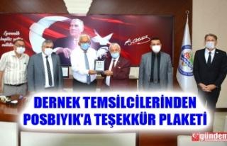 DERNEK TEMSİLCİLERİNDEN POSBIYIK'A TEŞEKKÜR...