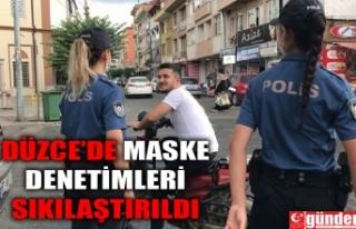 DÜZCE'DE POLİS EKİPLERİ KORONA VİRÜS DENETİMLERİNE...