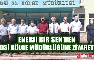 ENERJİ BİR SEN'DEN DSİ BÖLGE MÜDÜRLÜĞÜNE...