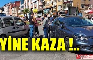 EREĞLİ'DE YİNE KAZA ... MADDİ HASAR VAR