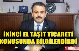İL TİCARET MÜDÜRÜ MADEN, İKİNCİ EL TAŞIT...