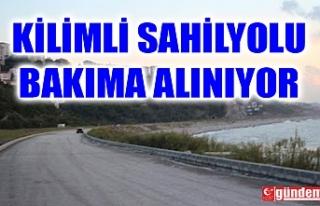 KİLİMLİ SAHİL YOLU KAPANDI