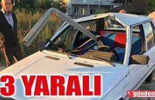 KONTROLDEN ÇIKAN OTOMOBİL BARİYERLERE SAPLANDI:...