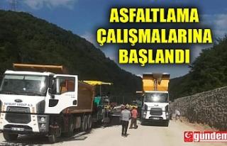SAPÇA TÜNELİ VE GÖKGÖL MAĞARASI ARASINDA ASFALTLAMA...