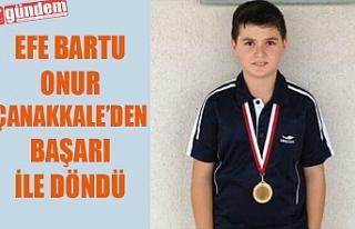 Tenisci Efe Bartu Onur Çanakkale den başarı ile...