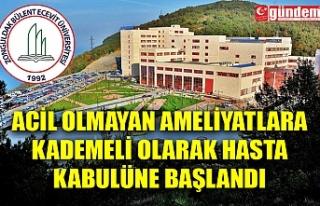 ZBEÜ'DE ACİL OLMAYAN AMELİYATLARA KADEMELİ...