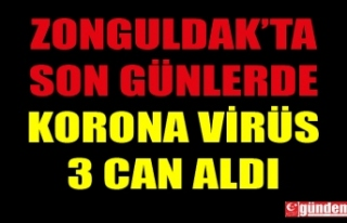 ZONGULDAK'TA KORONA VİRÜS SON GÜNLERDE 3 CAN...