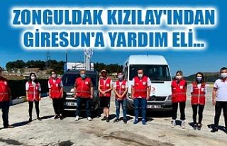 ZONGULDAK KIZILAY'INDAN GİRESUN'A YARDIM...