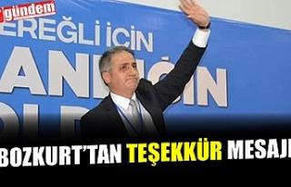 AK PARTİ İLÇE BAŞKANI BOZKURT'UN TEŞEKKÜR...