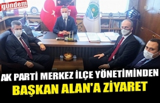 AK PARTİ MERKEZ İLÇE YÖNETİMİNDEN BAŞKAN ALAN'A...