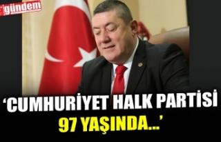 ALAPLI BELEDİYE BAŞKANI TEKİN, CHP'NİN KURULUŞ...