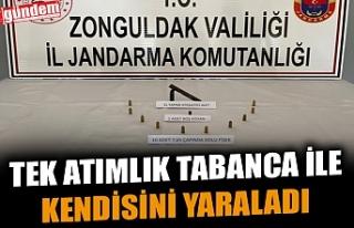 ALKOLLÜ ŞAHIS TEK ATIMLIK TABANCA İLE KENDİSİNİ...