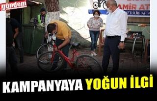 """""""BİSİKLETİNİ TAMİR ETTİRİYORUZ"""" KAMPANYASINA..."""