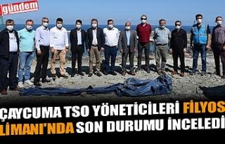 ÇAYCUMA TSO YÖNETİCİLERİ FİLYOS LİMANI'NDA...