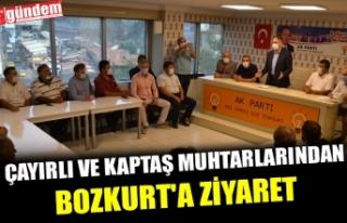 ÇAYIRLI VE KAPTAŞ MUHTARLARINDAN BOZKURT'A...