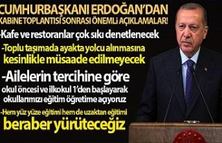 CUMHURBAŞKANI ERDOĞAN'DAN GÜNDEME DAİR YENİ...