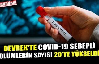 DEVREK'TE COVID-19 SEBEPLİ ÖLÜMLERİN SAYISI...