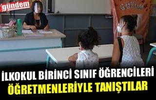 İLKOKUL BİRİNCİ SINIF ÖĞRENCİLERİ ÖĞRETMENLERİYLE...