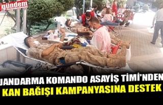 JANDARMA KOMANDO ASAYİŞ TİMİ'NDEN KAN BAĞIŞI...