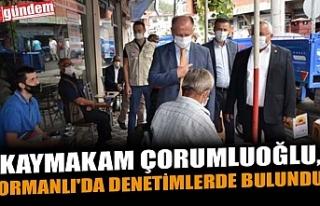 KAYMAKAM ÇORUMLUOĞLU, ORMANLI'DA DENETİMLERDE...
