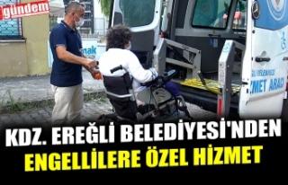 KDZ. EREĞLİ BELEDİYESİ'NDEN ENGELLİLERE...