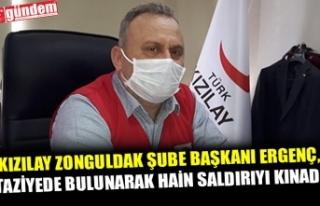 KIZILAY ZONGULDAK ŞUBE BAŞKANI ERGENÇ, TAZİYEDE...