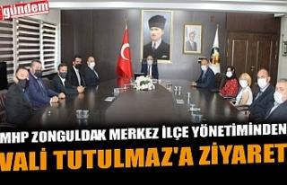 MHP ZONGULDAK MERKEZ İLÇE YÖNETİMİNDEN VALİ...