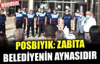 POSBIYIK, ZABITA HAFTASINI PERSONELİYLE PASTA KESEREK...