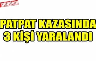 TEPEÖREN KÖYÜNDE PATPAT KAZASI: 3 YARALI