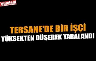 TERSANE'DE BİR İŞÇİ YÜKSEKTEN DÜŞEREK...