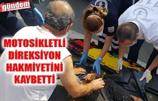 TIR'IN SIKIŞTIRDIĞI MOTOSİKLET SÜRÜCÜSÜ...