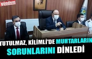 VALİ TUTULMAZ, KİLİMLİ'DE MUHTARLARIN SORUNLARINI...