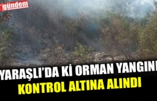 YARAŞLI'DA Kİ ORMAN YANGINI KONTROL ALTINA...
