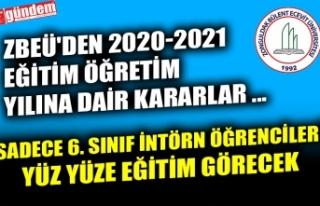ZBEÜ'DEN 2020-2021 EĞİTİM ÖĞRETİM YILINA...
