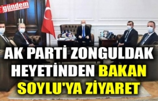 AK PARTİ ZONGULDAK HEYETİNDEN BAKAN SOYLU'YA...