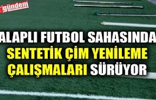ALAPLI FUTBOL SAHASINDA SENTETİK ÇİM YENİLEME...