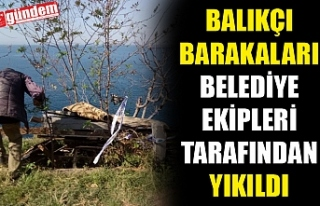 BALIKÇI BARAKALARI BELEDİYE EKİPLERİ TARAFINDAN...