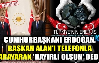 CUMHURBAŞKANI ERDOĞAN, BAŞKAN ALAN'I TELEFONLA...