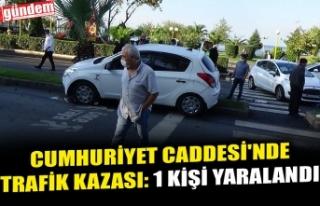SAHİL MEVKİİ'NDE TRAFİK KAZASI: 1 KİŞİ...