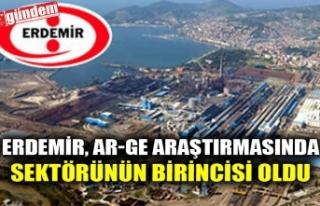 ERDEMİR, AR-GE ARAŞTIRMASINDA SEKTÖRÜNÜN BİRİNCİSİ...